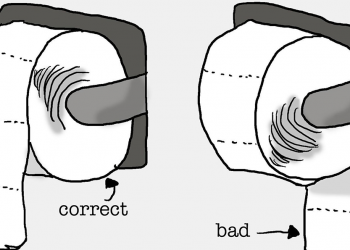 HOW TO HANG A TOILET PAPER